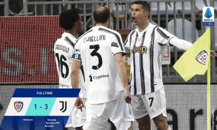 Hasil Cagliari vs Juventus
