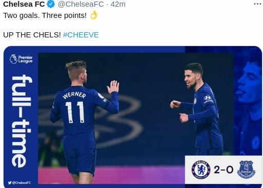 Hasil Chelsea vs Everton