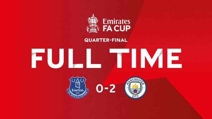 Hasil Everton vs Manchester City FA Cup Tadi Malam