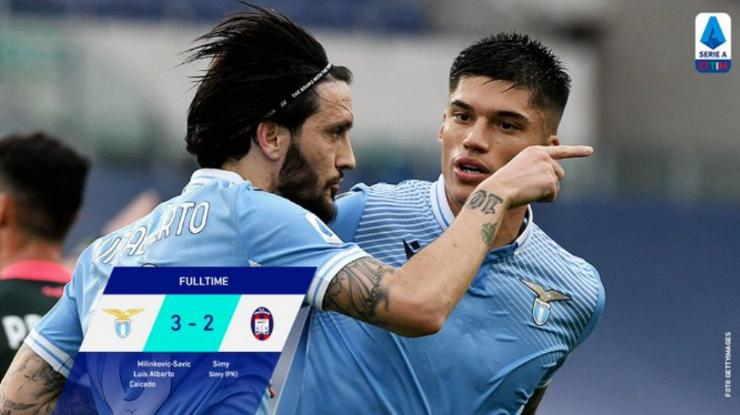 Hasil Lazio vs Crotone