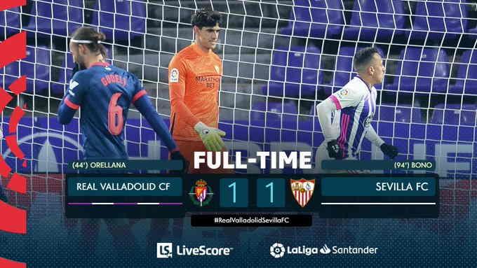 Hasil Valladolid vs Sevilla 1-1