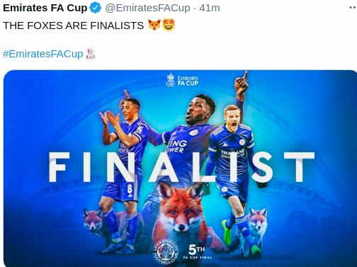 Hasil Leicester City vs Southampton
