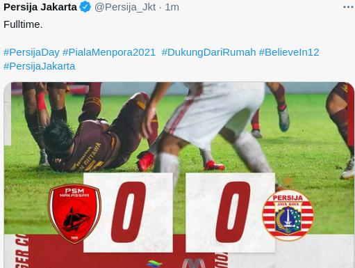 Hasil PSM vs Persija Leg 1 Semifinal