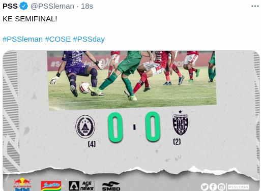 Hasil PSS vs Bali United