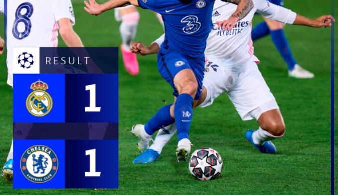 Hasil Real Madrid vs Chelsea Leg 1 SF UCL