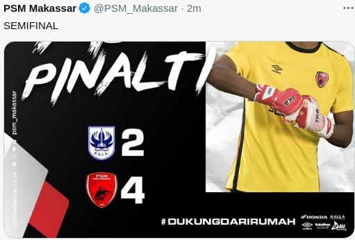 PSM Makassar ke Semifinal