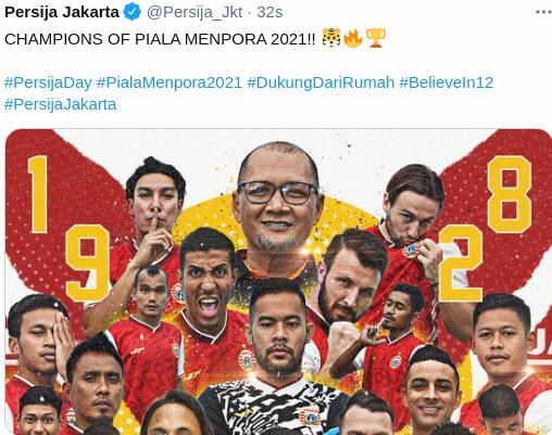 Persija Juara Piala Menpora 2021