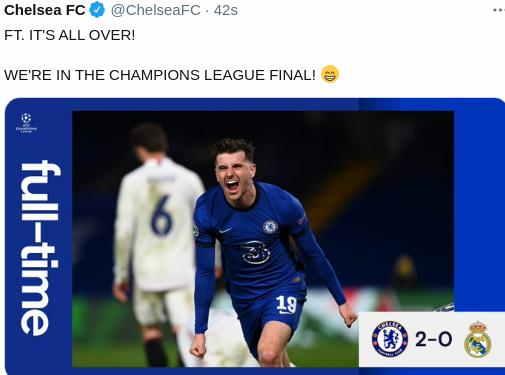 Hasil Chelsea vs Real Madrid Leg 2