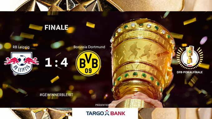 Hasil Final DFB Pokal RB Leipzig vs Dortmund Skor Akhir 1-4