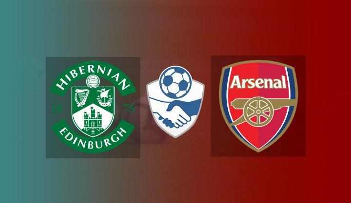 Hasil Hibernian vs Arsenal