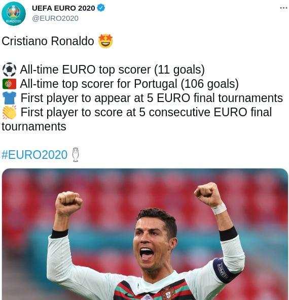 Cristiano Ronaldo cetak 2 gol ke gawang Hungaria