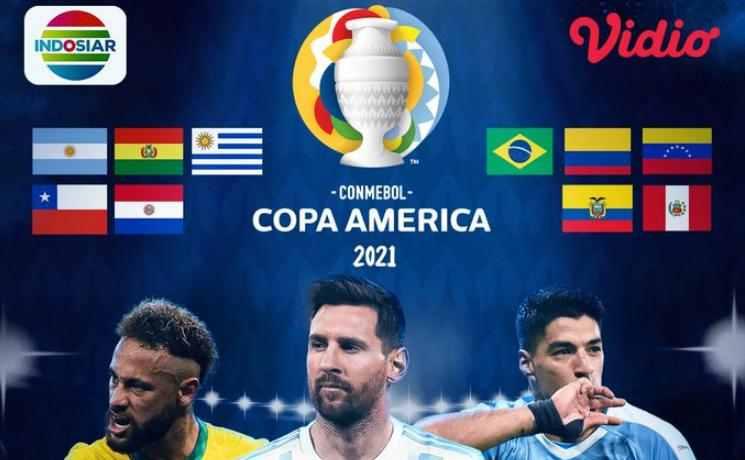 Jadwal Final Copa America 2021 Live Indosiar Argentina vs Brazil
