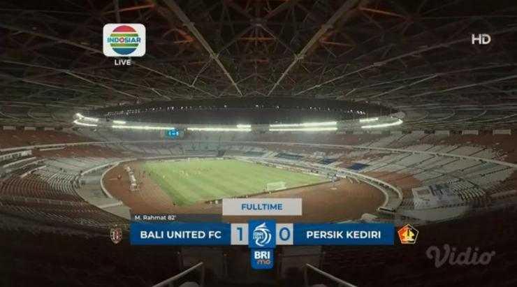 Hasil Bali United vs Persik Kediri Skor Akhir 1-0