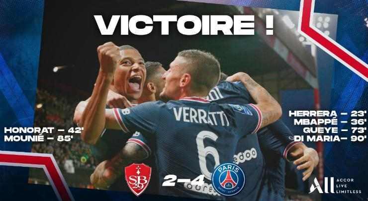 Hasil Brest vs PSG Skor Akhir 2-4