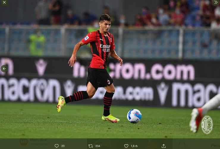 Hasil dan Video Cuplikan Gol Sampdoria vs AC Milan Skor Akhir 0-1