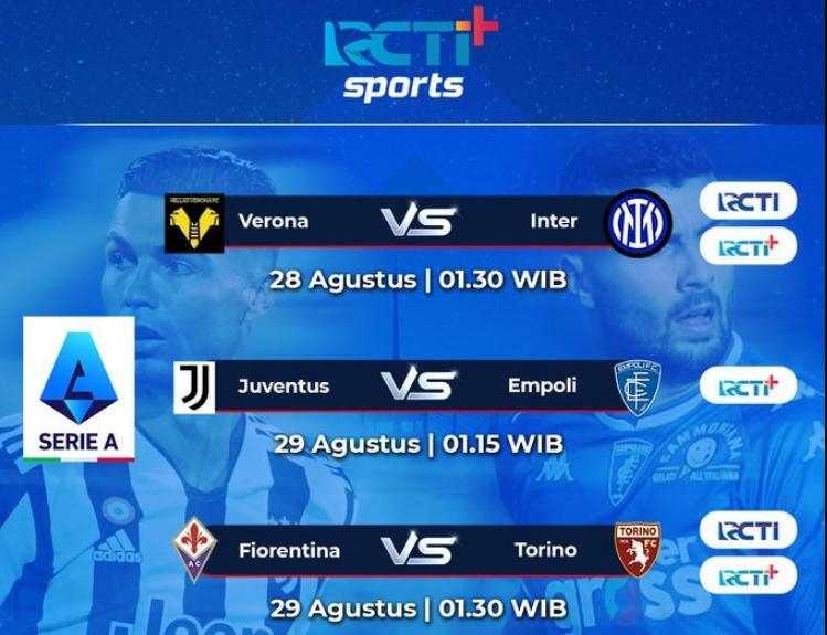 Jadwal Serie A akhir Pekan ini