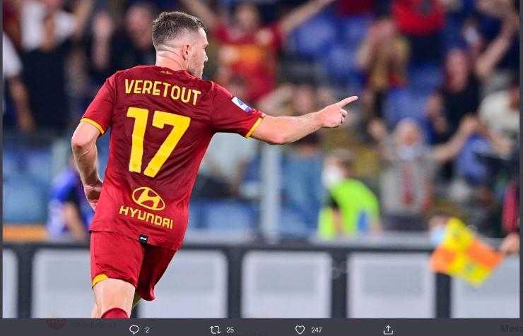 Hasil AS Roma vs Fiorentina Jordan Veretout sumbang 2 gol