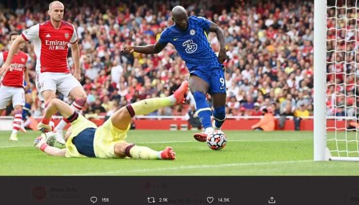 Arsenal 0-2 Chelsea, Debut Manis Romelu Lukaku Sumbang 1 Gol Untuk Chelsea