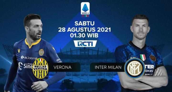 Siaran Langsung Verona vs Inter Milan Gratis di RCTI+