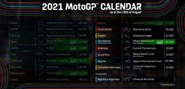 Sisa 7 Seri Balapan, Catat Jadwal MotoGP 2021 usai Seri Argentina di Batalkan