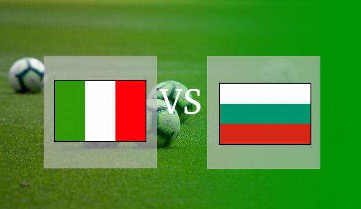 Hasil Italia vs Bulgaria Skor Akhir 1-1