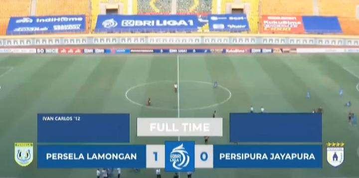 Hasil Persela vs Persipura Skor akhir 1-0