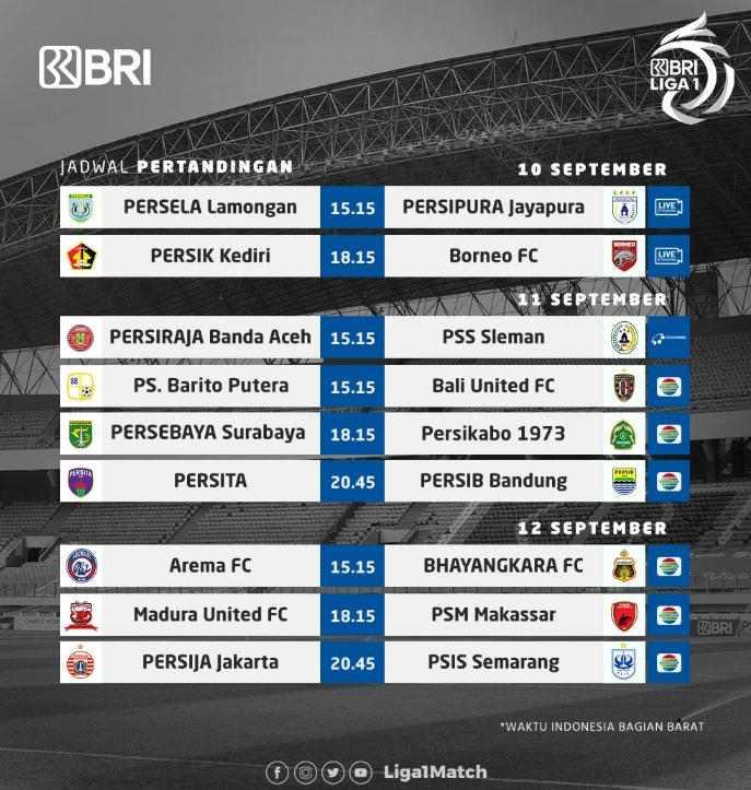 Jadwal Pekan 2 BRI Liga 1 2021 Live Indosiar Akhir Pekan Ini