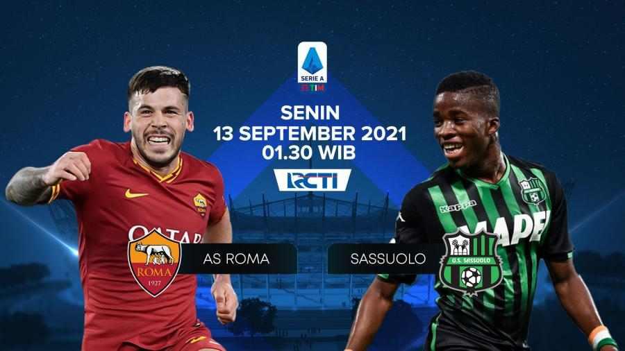 AS Roma vs Sassuolo, Prediksi Line Up, head to head