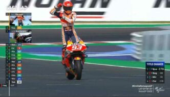 Hasil Race MotoGP Emilia Romagna 2021 : Marc Marquez Podium 1, Quartararo Juara Dunia